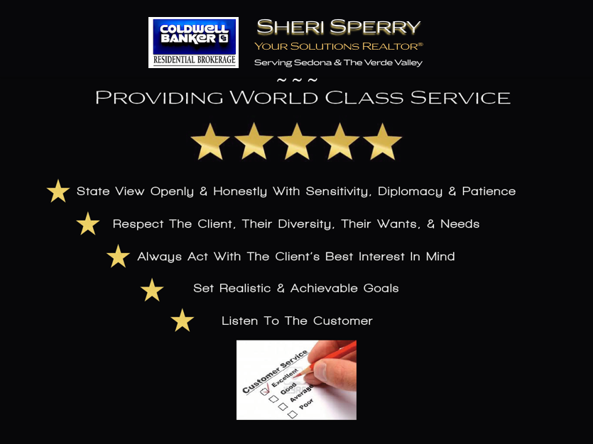 Sheri Sperry Coldwell Banker World Class Service