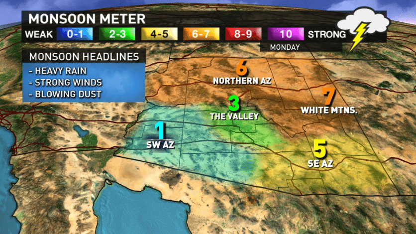 12 News Arizona Monsoon Meter