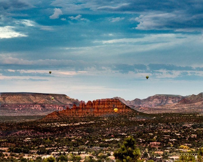 Boynton Canyon West Sedona Homes for sale - hot air balloons