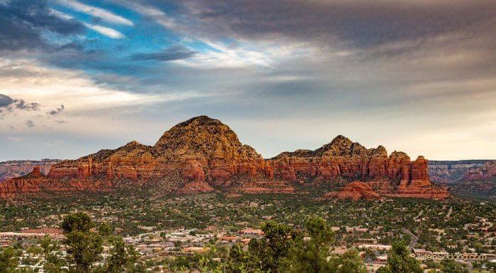 Capital Butte thunder mountain and coffeepot rock West Sedona AZ