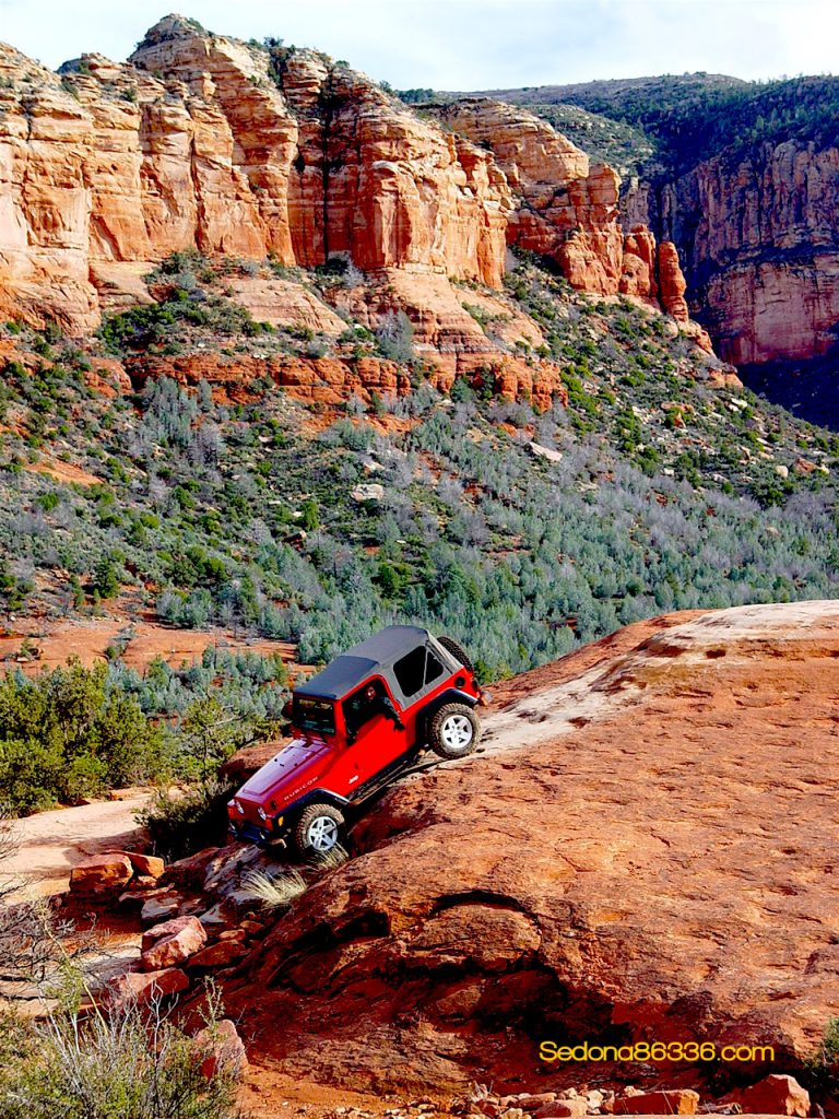 Traffic Red Rock Jeep Trails