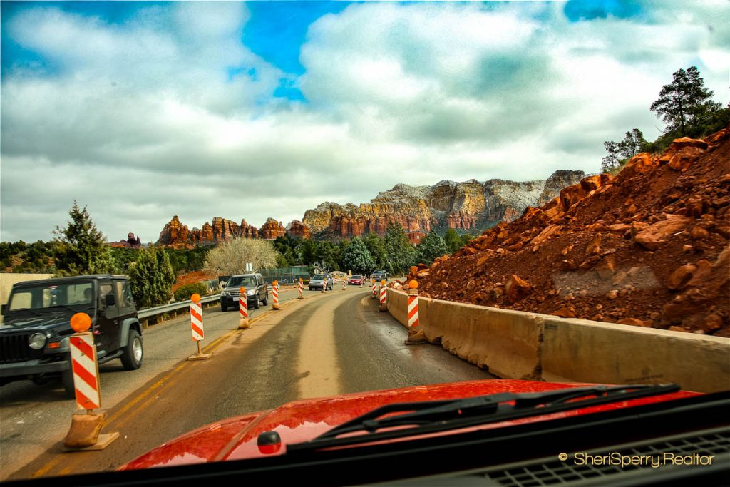 Sedona traffic SR 179 Construction
