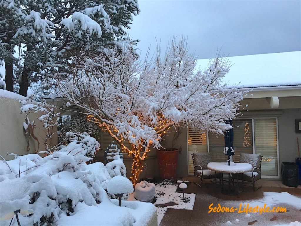 Sedona weather White Christmas