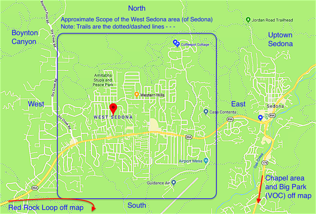 Map of West Sedona map