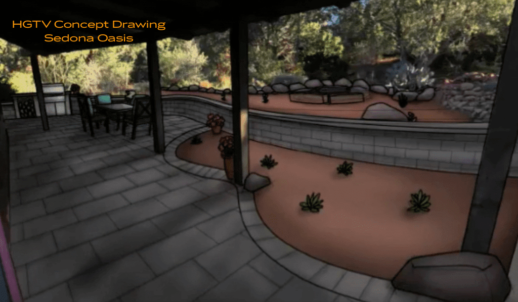 Joshua Tree Landscape Artist Rendition