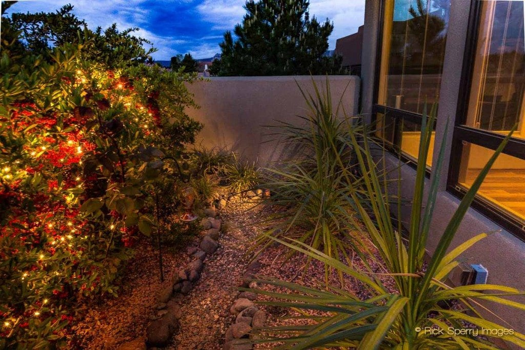 Homes with landscape lighting