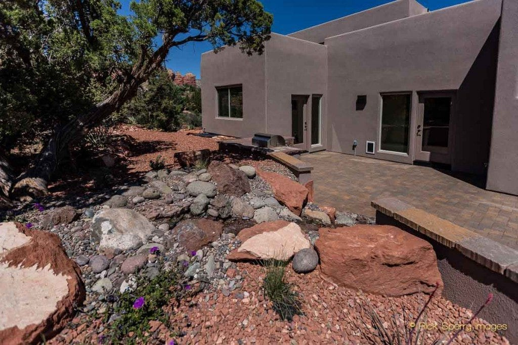 West Sedona homes for sale - private patio
