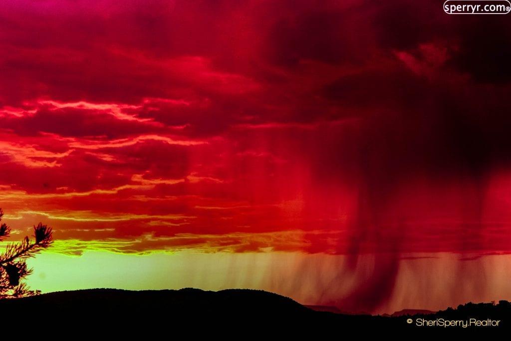 Monsoon at sunset - homes for sale Big Park AZ VOC - Village of oak Creek