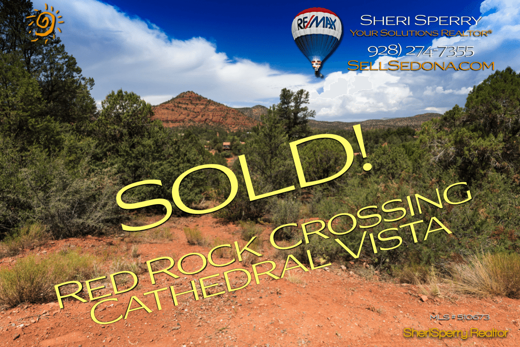Iconic Cathedral Aerial View – Pyramid Lot SOLD by Luxury Specialist Sheri Sperry – ReMax Sedona