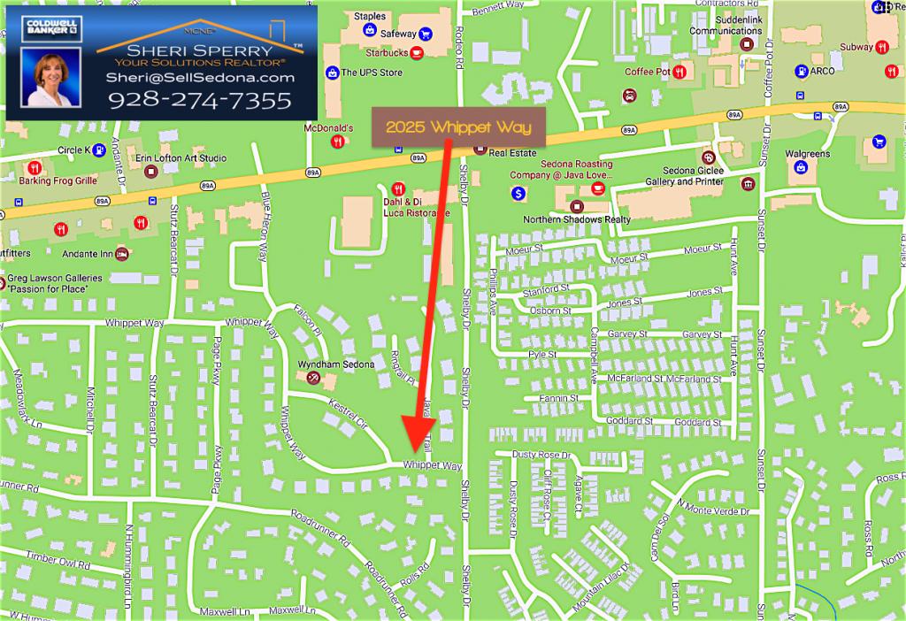 Sedona Maps - 2025 Whippet Way Sedona 86336 Homes For Sale
