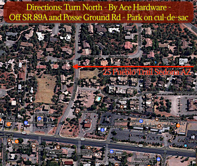 Directions - 25 Pueblo Trail Sedona AZ 86336