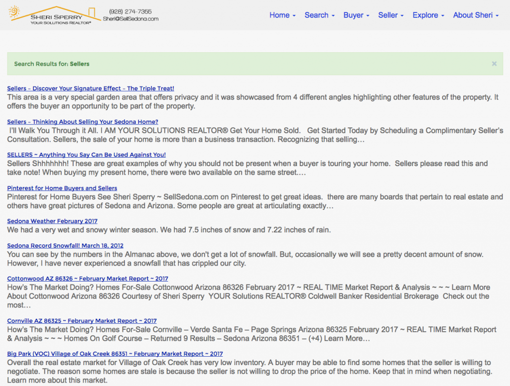 ActiveRain and SellSedona blogs