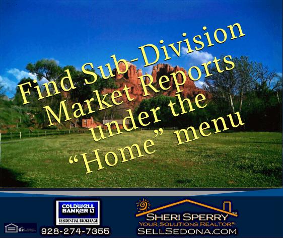 Sedona sub division market reports