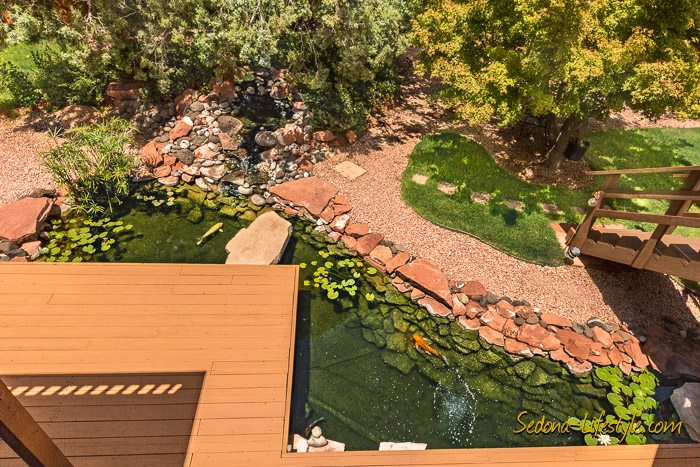 Sedona Koi Pond - West Sedona Home for Sale