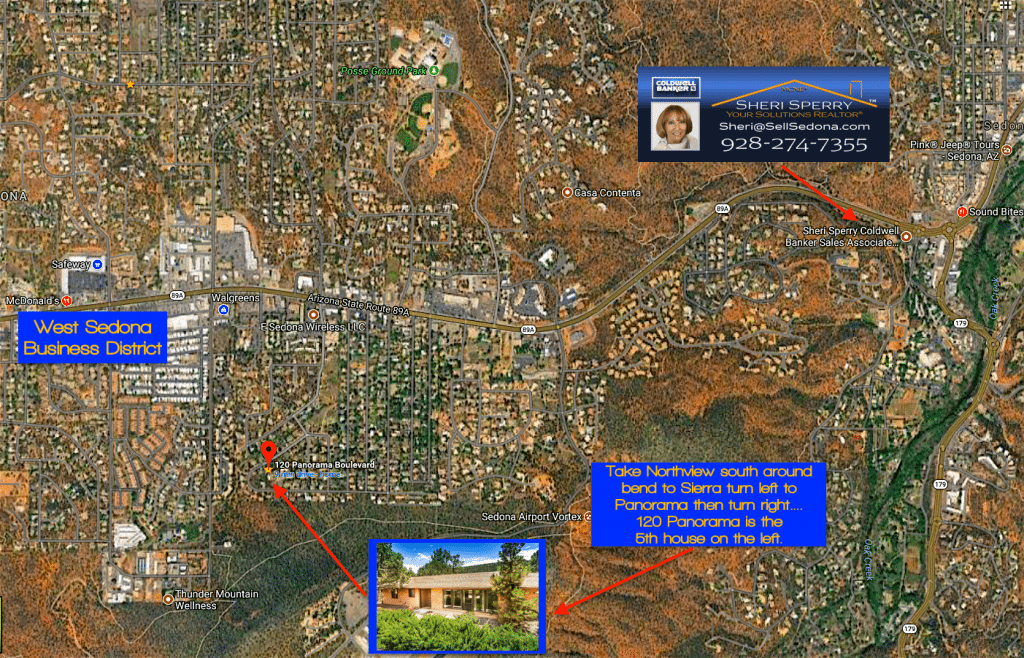 Directions to 120 Panorama Blvd Sedona