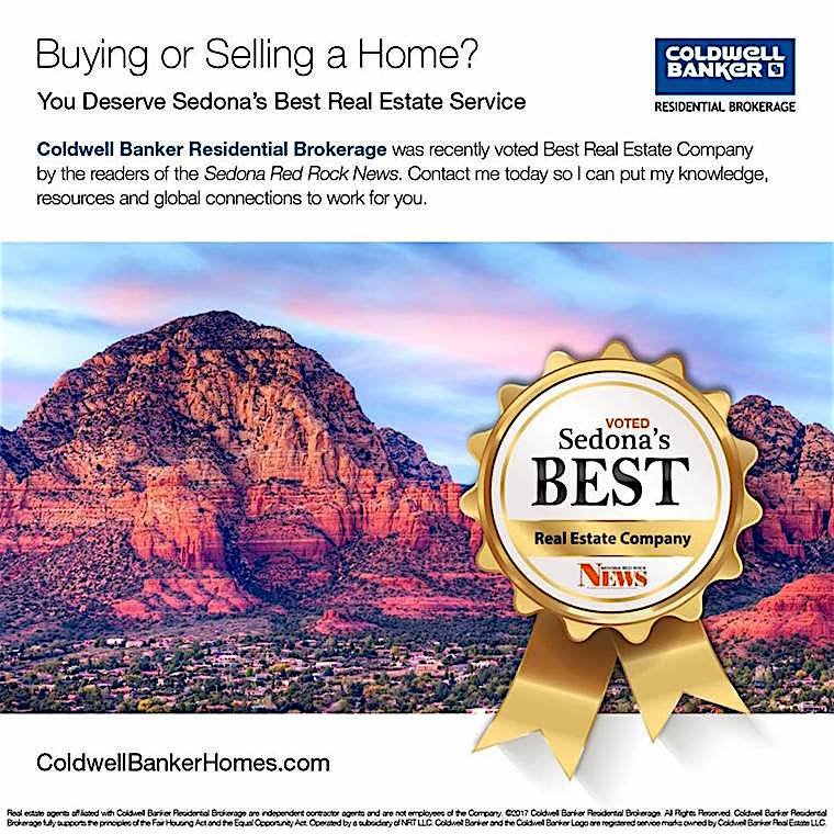 Coldwell Banker rated Number One in Sedona AZ