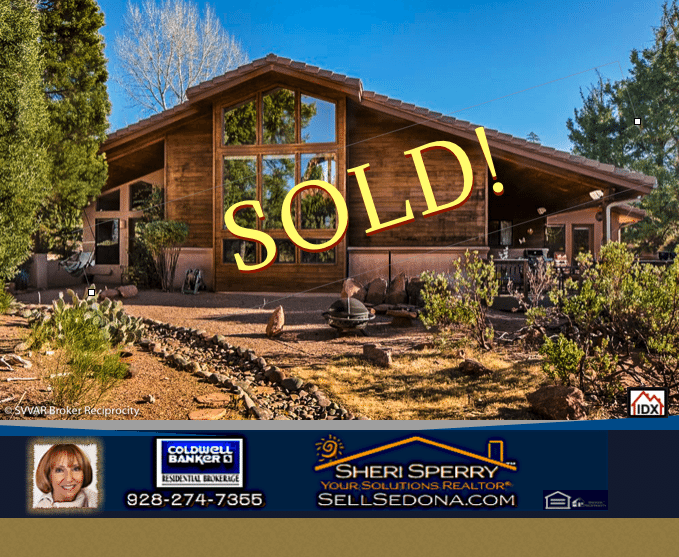 West Sedona homes for sale - SOLD by top real estate agent Sheri Sperry Coldwell Banker.