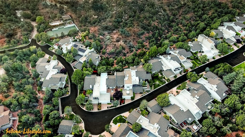 Overhead of Cottages At Coffeepot