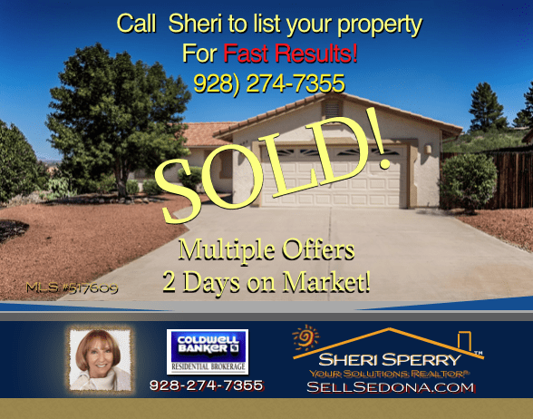 Sellers - Listing Agent Sheri Sperry of Coldwell Banker gets FAST results