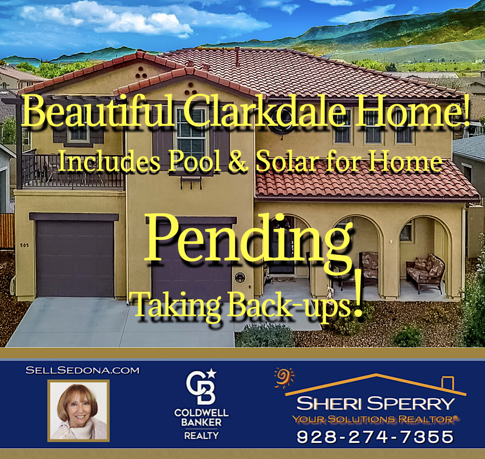 Another pending Clarkdale home by Sheri Sperry of Coldwell Banker Realty Sellers, shouldn't you list with Sheri Sperry?