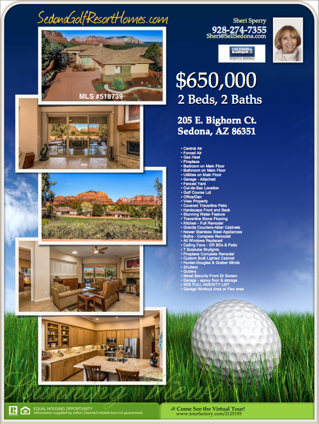 Flyer golf homes in sedona for sale - sedona golf resort
