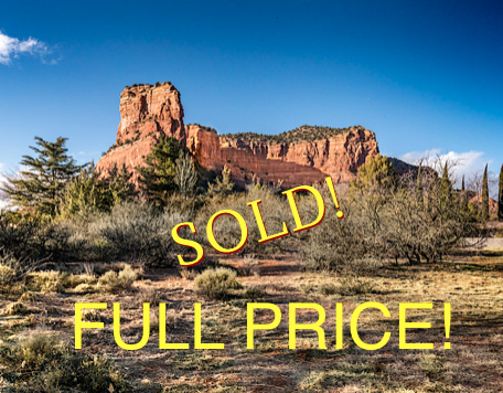 Sedona lots and land sold at full price