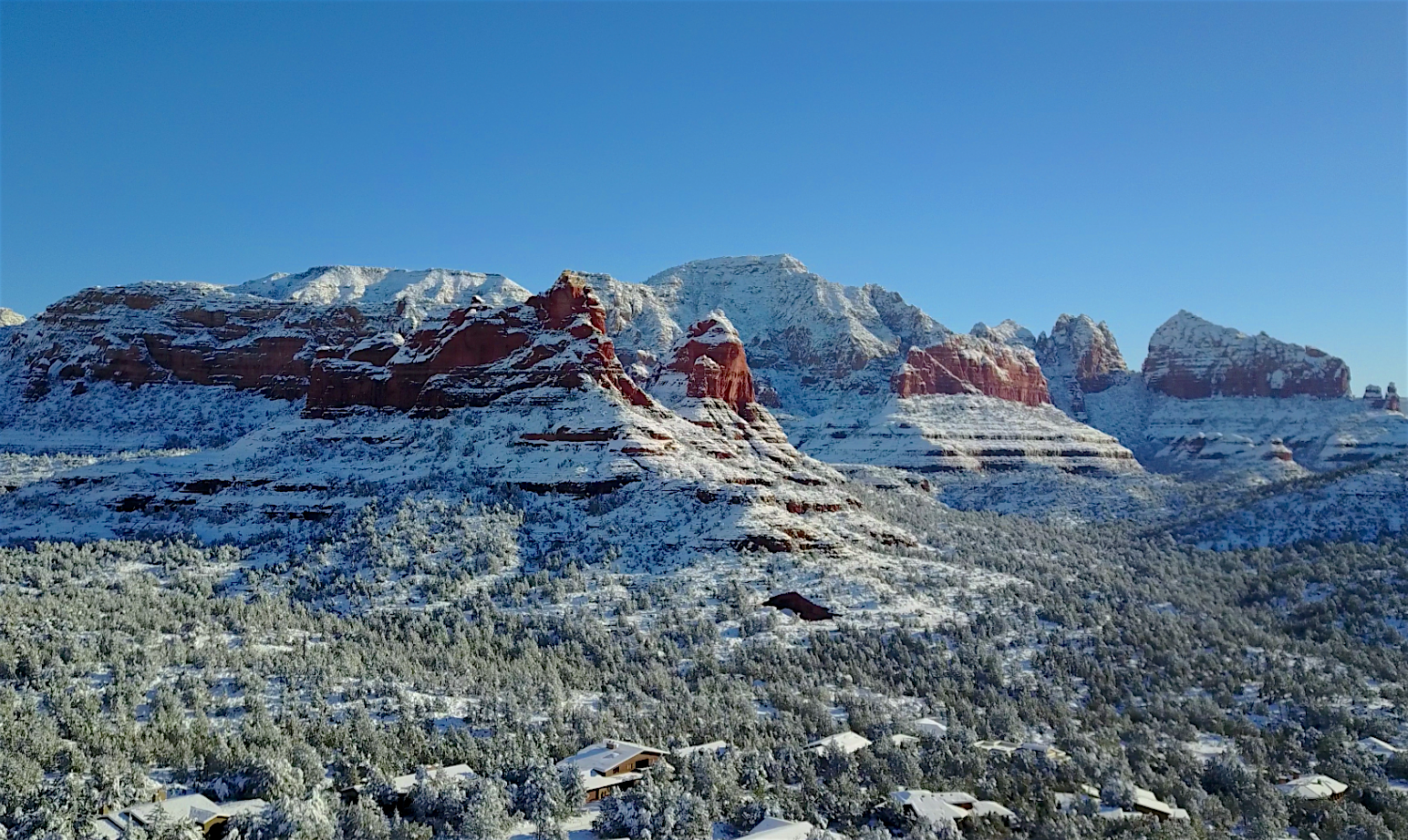 Record February 2019 Sedona Snowfall ~ Soldiers Pass West Sedona AZ
