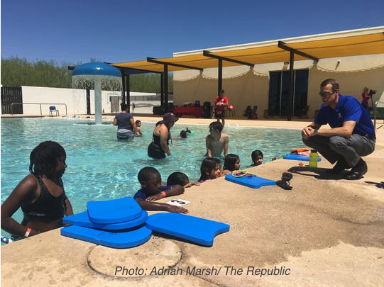 Pool Safety - Phoenix area swim lessons photo Adrian Marsh - The Republic