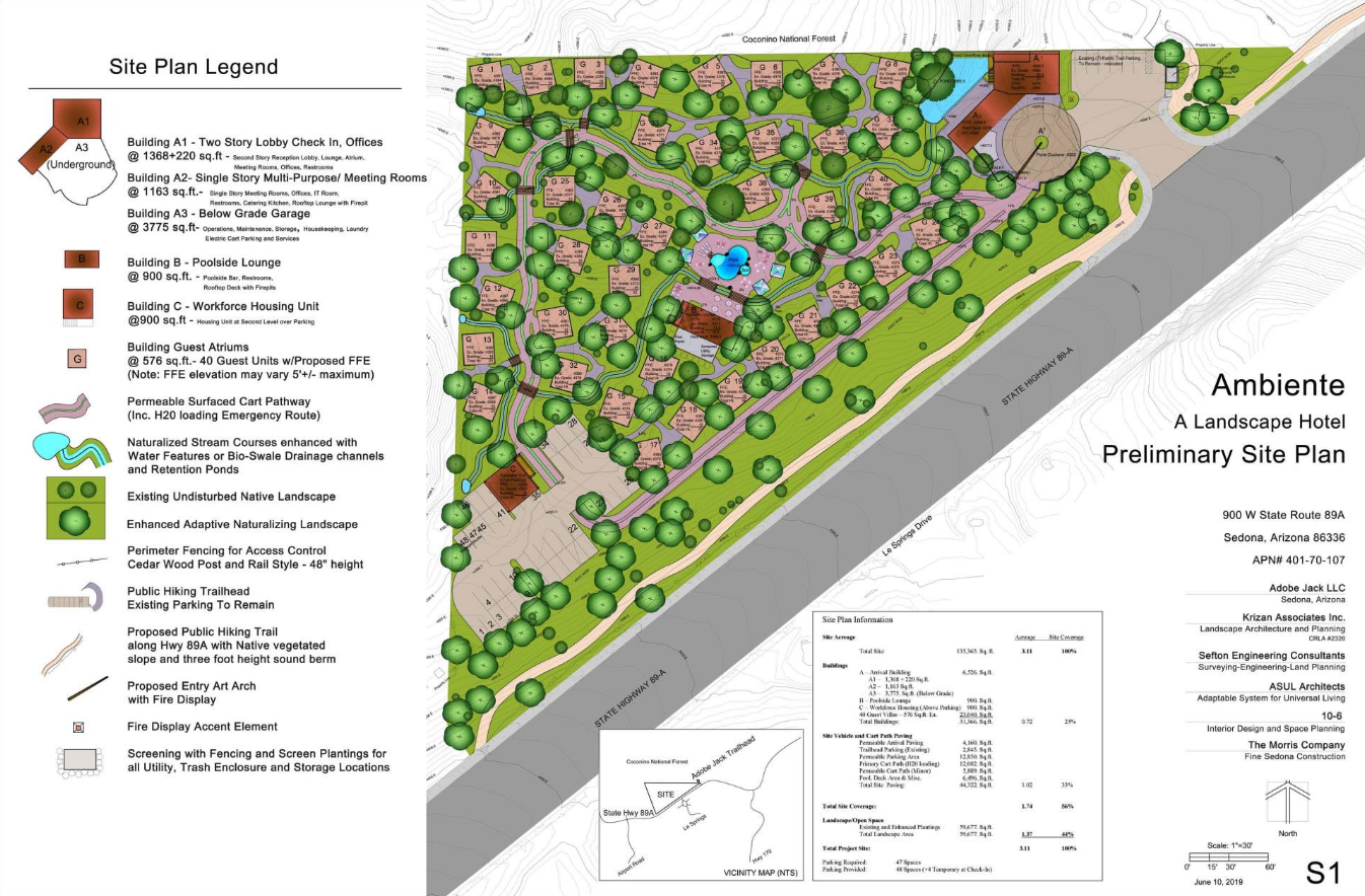 Plot Map for Ambiente Sedona