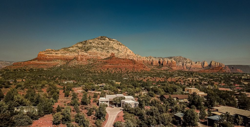 Aerial View of Capital Butte from 35 Kaibab Drive Sedona AZ