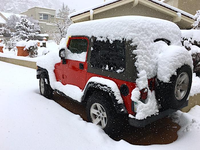 Sedona Snow storm 2018 snow shovel
