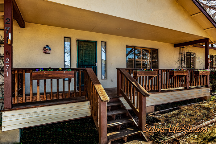 Camp Verde riverfront property covered porch