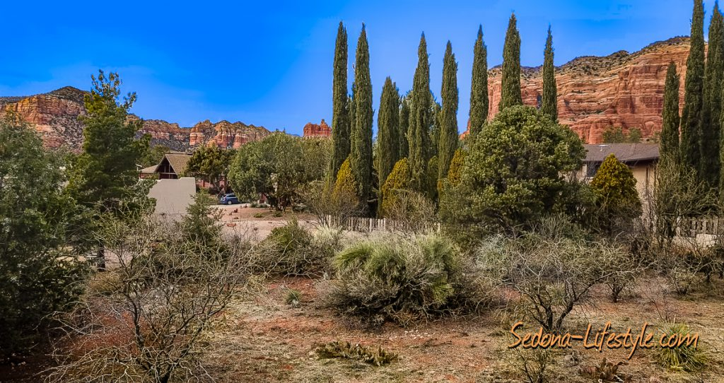 View of Sedona lot for sale