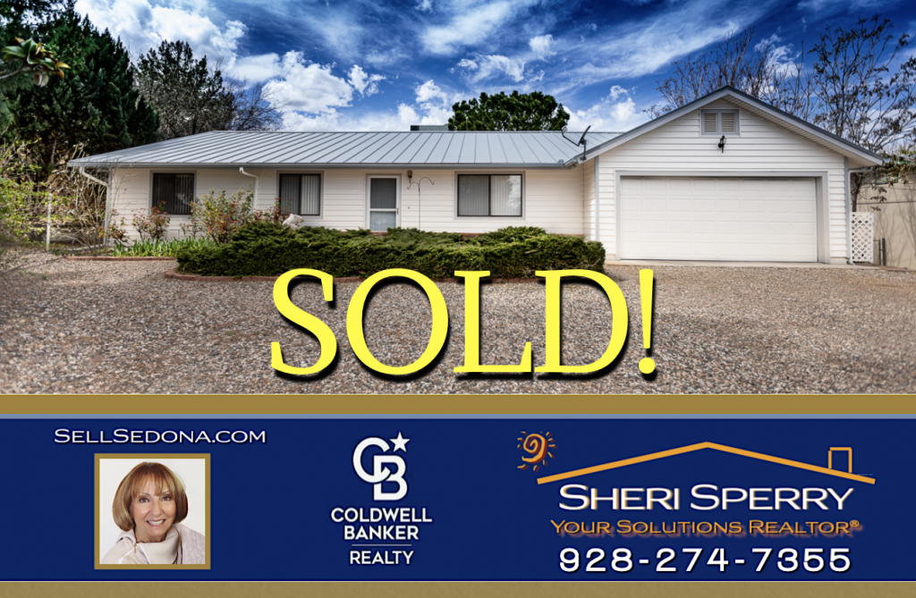 Cottonwood Homes for Sale SOLD by Sheri Sperry Coldwell Banker Realty