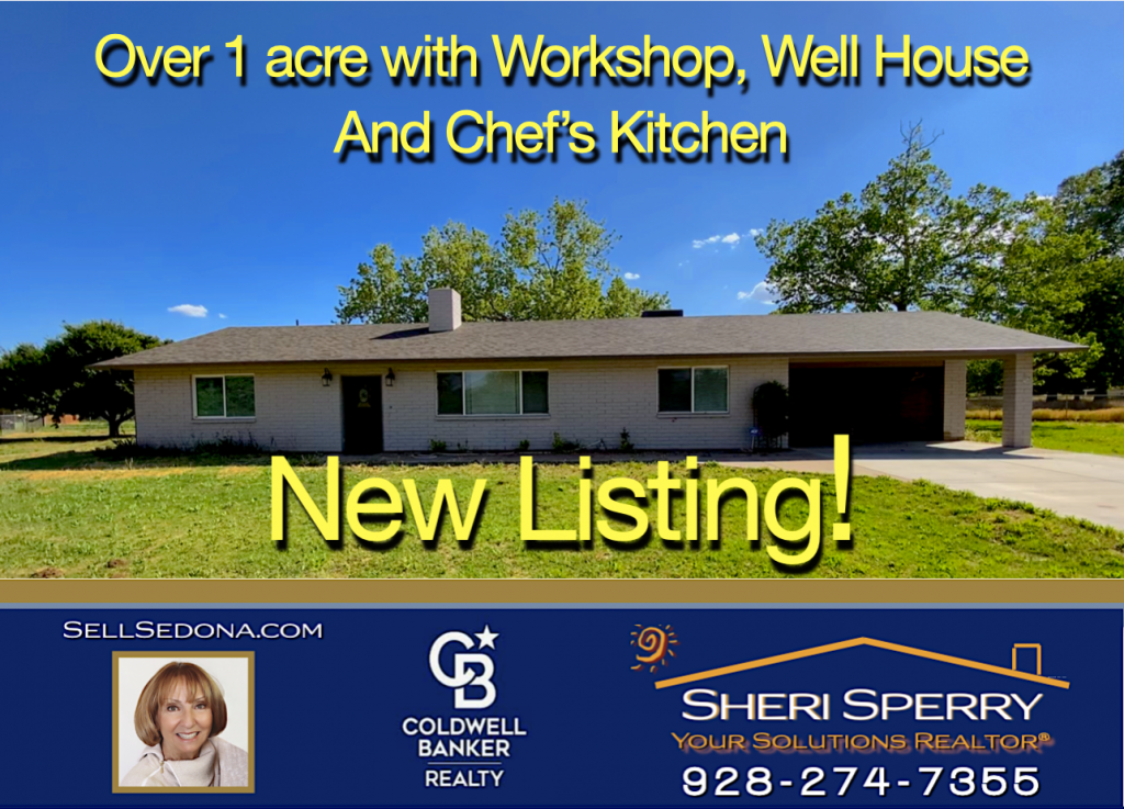 New Listing by Sheri Sperry Coldwell Banker Realty - 869 E. Armetta Dr Camp Verde AZ 86322
