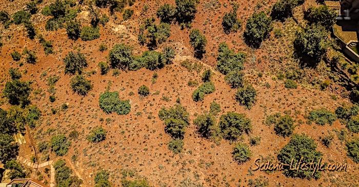 Aerial of LOt 115 Scenic Drive Sedona