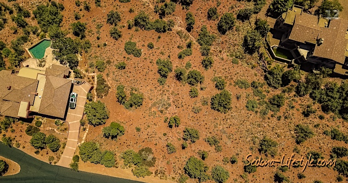 Aerial of LOt 115 Scenic Drive Sedona