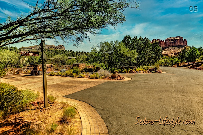 Scenic Drive Security Gate Back O Beyond RanchIconic Cathedral Rock Views - Back O Beyond Ranch Sheri Sperry Coldwell Banker Realty Sedona