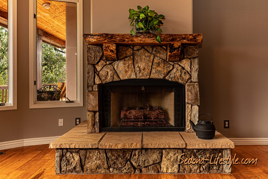 Custom Fireplace Living Room - Courtyard - Sheri Sperry Coldwell Banker Realty List Agent