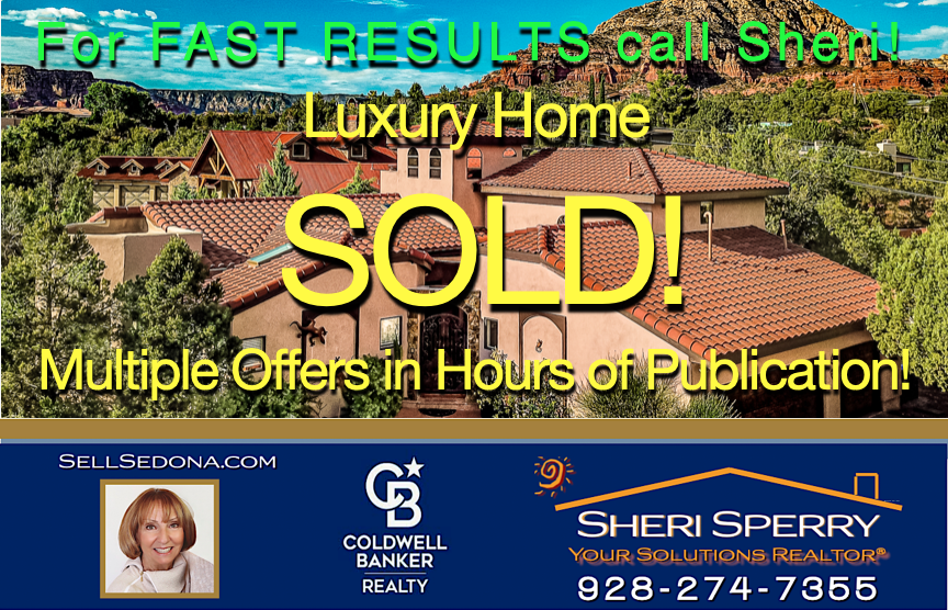 Another luxury West Sedona home sold by Sheri Sperry of Coldwell Banker Realty