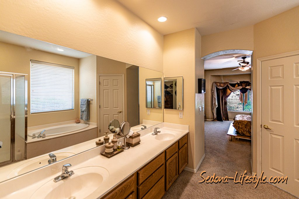 Master Bath Sedona Golf Resort home offered by Sheri Sperry