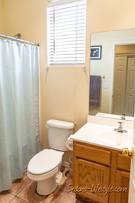 guest bath Sedona Golf Resort home offered by Sheri Sperry