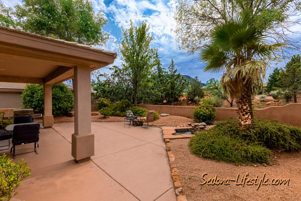 Large backyard Sedona Golf Resort home offered by Sheri Sperry