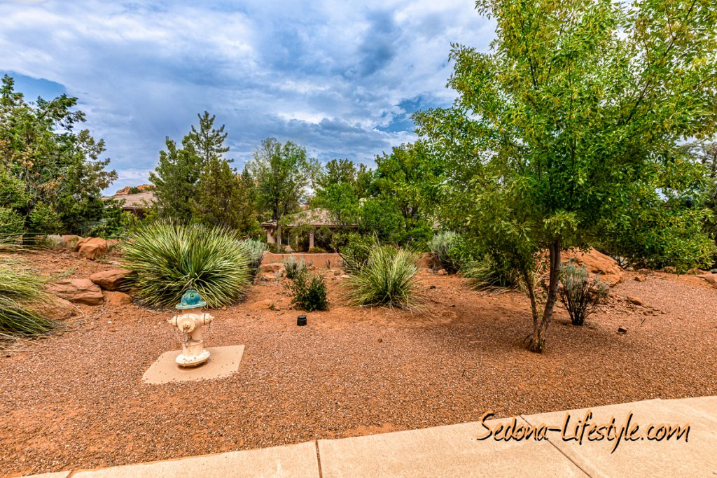 Set back from the streetSedona Golf Resort home offered by Sheri Sperry