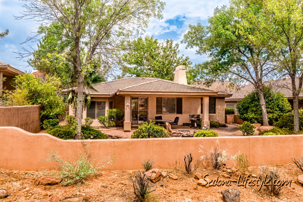 lots of privacy Sedona Golf Resort home offered by Sheri Sperry