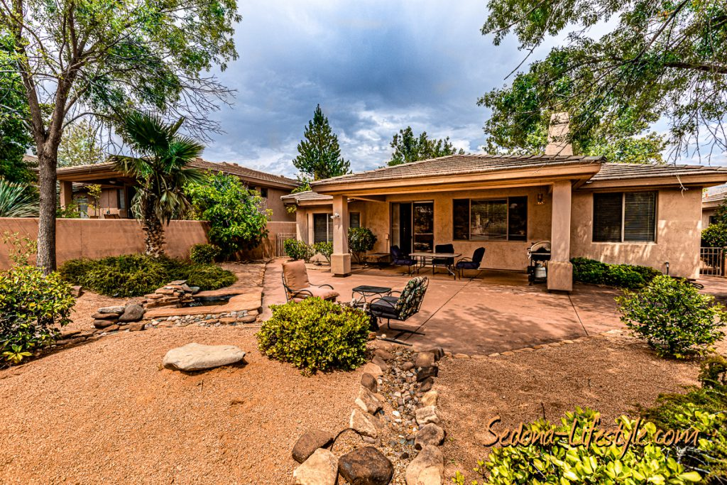 covered patio Sedona Golf Resort home offered by Sheri Sperry