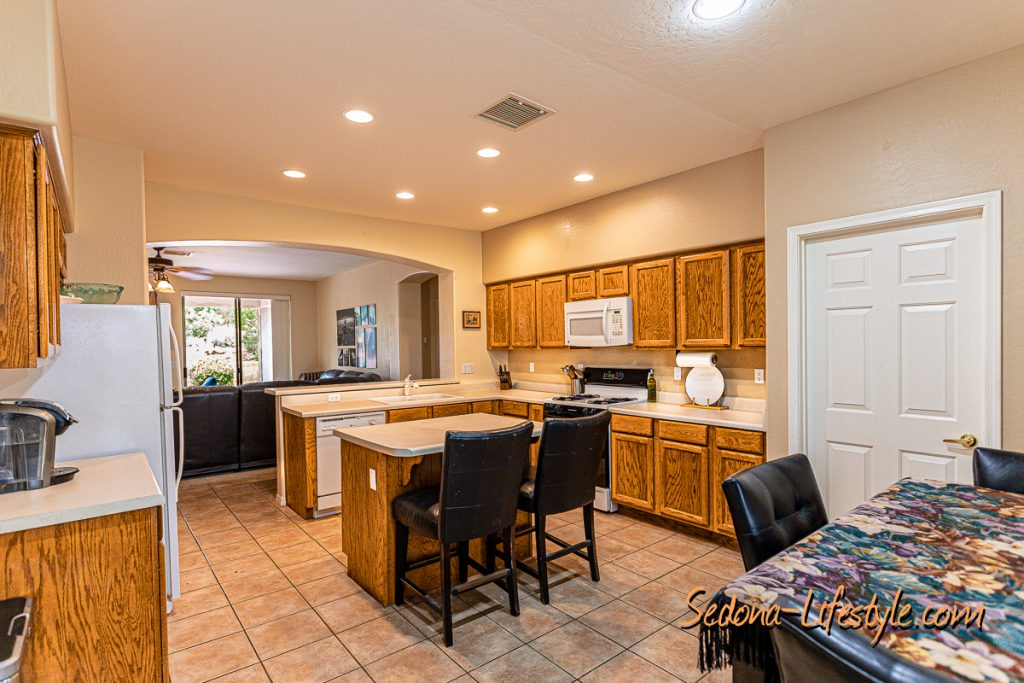 Kitchen areaSedona Golf Resort home offered by Sheri Sperry