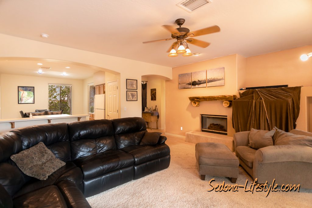 great room Sedona Golf Resort home offered by Sheri Sperry