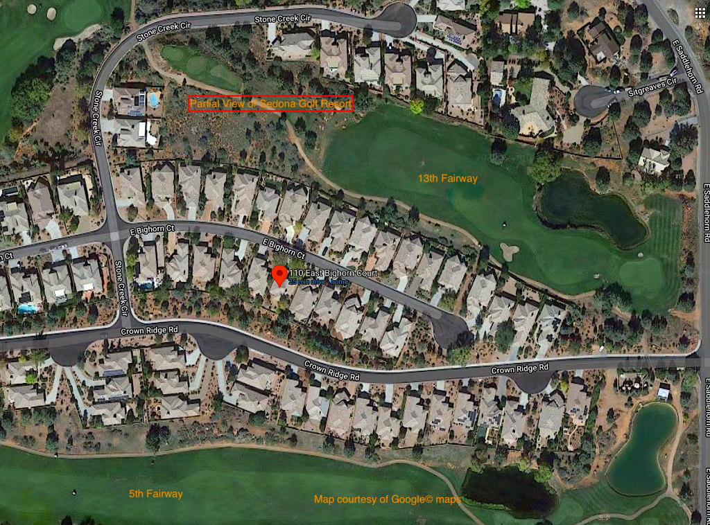 Aerial image of Sedona Golf Course