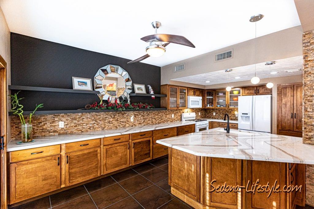 reconfigured Kitchen 1406 Vista Montana - Sheri Sperry SellSedona.com Coldwell Banker